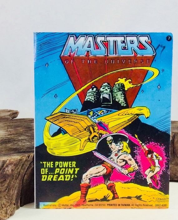 80S MATTEL HE-MAN MASTERS OF THE UNIVERSE THE POWER OF POINT DREAD COMIC BOOK