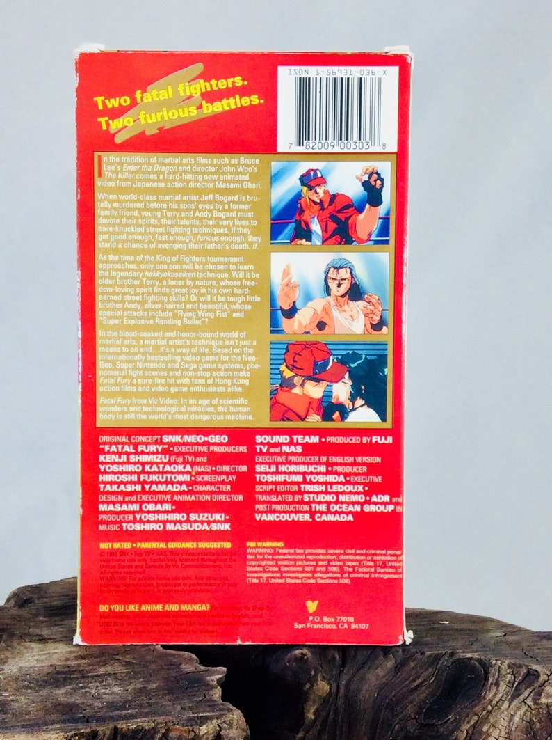 Fatal Fury: Legend Of The Hungry Wolf (vintage anime vhs)