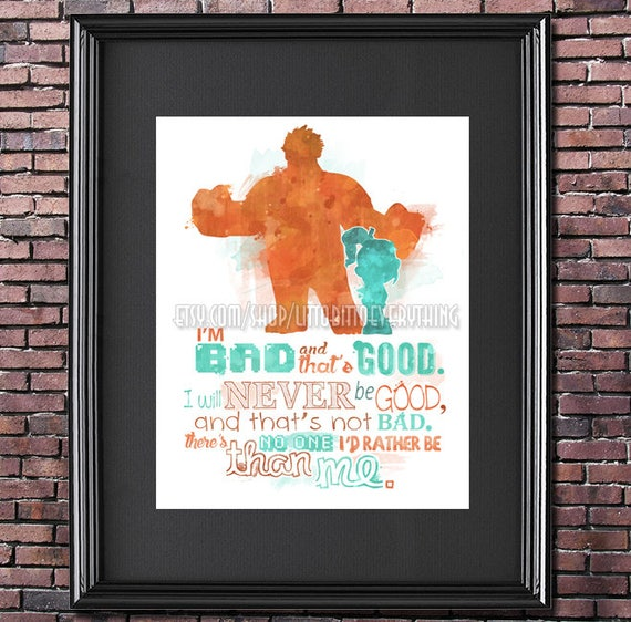 Wreck It Ralph 8x10 Printable Poster Digital Instant Etsy