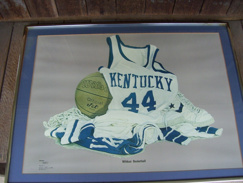 image regarding Printable Uk Basketball Schedule titled Kentucky Wildcats Basketball Steve Ford Signed 1979 United kingdom Constrained Model 1401/3000 Framed Print Rupp Arena Check out BLUE Lexington