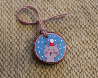 Woodslice Kitty Ornament