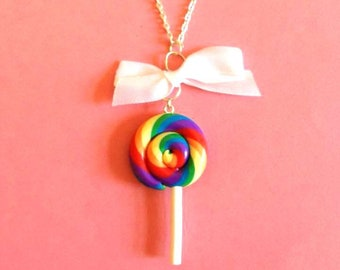 READY MADE SALE! My girl lollipop! Necklace by Toxic Heart Designs from the sweet shop collection  / Lolly - lolly necklace - Sweet jewelry
