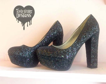fe549140b4b1 Super sparkly custom glittered shoes  choose your colour  Perfect for prom