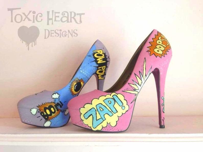 42bfb9d15a6546 POP Culture Amazing pastel pop art shoes with pops whizzes
