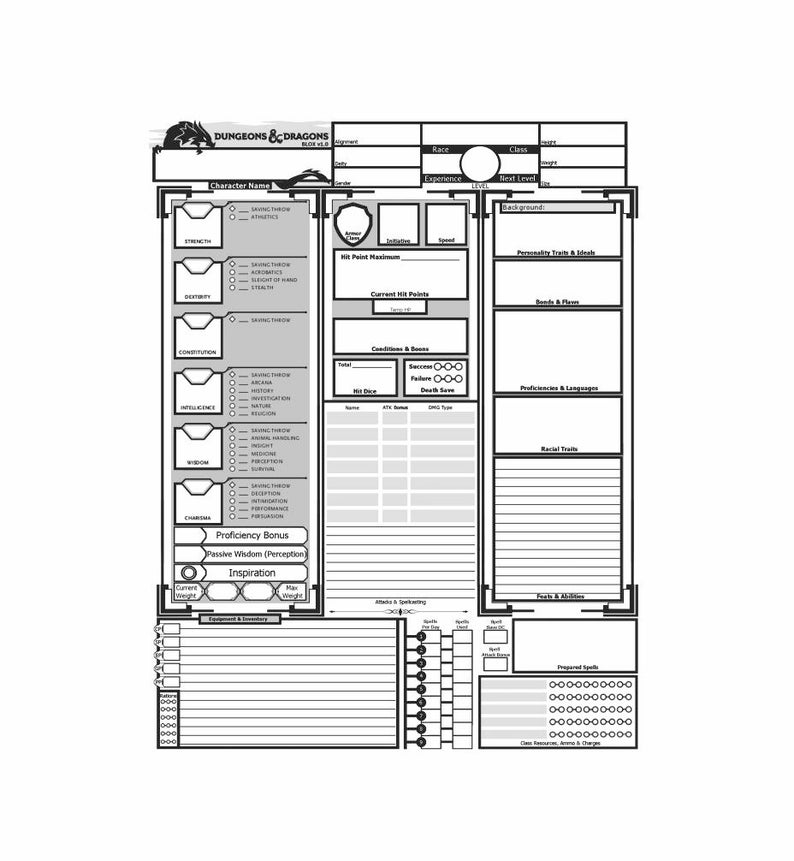 photo relating to Printable D&d Miniatures identified as Printable DD Temperament Sheet - Do-it-yourself D and D Individuality Sheet - Electronic History