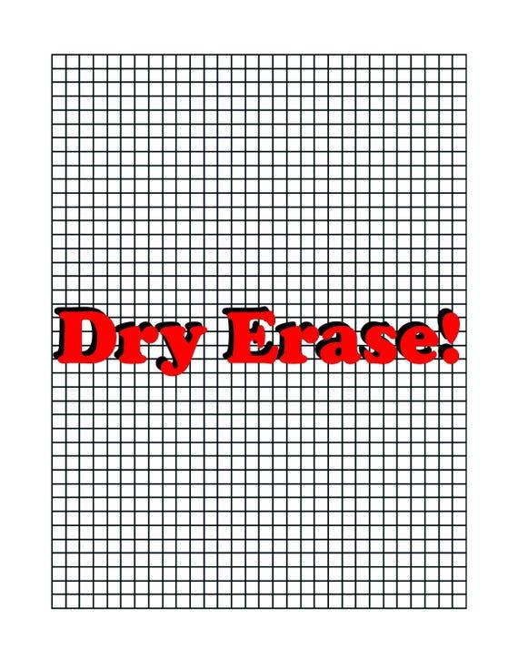 Laminated D D Grid Paper Graph Paper Dry Erase D And D Grid Etsy