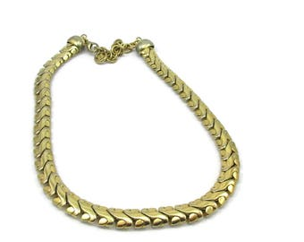Givenchy Gold Tone Necklace Choker Chain 19 Inches Vintage Estate Costume Jewelry Designer Accessories Gift Ideas