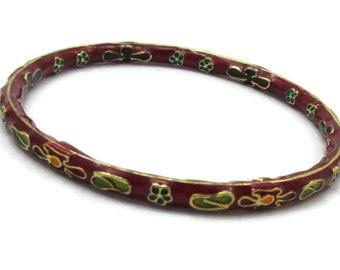 b640ed975bffc Red enamel bracelet   Etsy