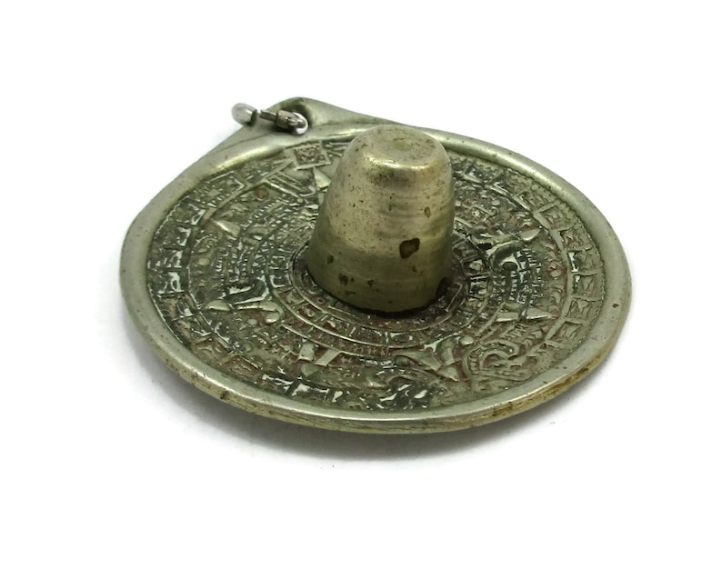 Alpaca Silver Pendant Necklace Charm Sombrero Hat  1960s Vintage Estate Finds Jewelry Designer Gift Ideas Mexican Gifts
