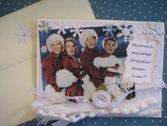 White Christmas Card May All Your Christmases Be White White Etsy