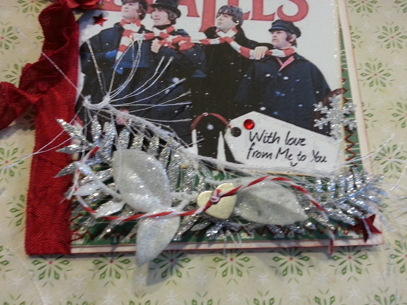 With Love From Me to You Beatles With Scarves Christmas Card /'Help!/' Movie Holiday Card