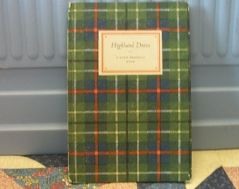 Old Highland Dress Book 1948 24 color plates from Clans of the Scottish Highlands