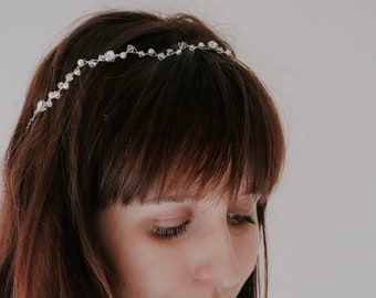 Bridal Hair Vine - Silver Hair Vine - Bridal Headpiece - Crystal Hair Vine - Crystal Headpiece - Wedding Hair Vine - Bridal Headband