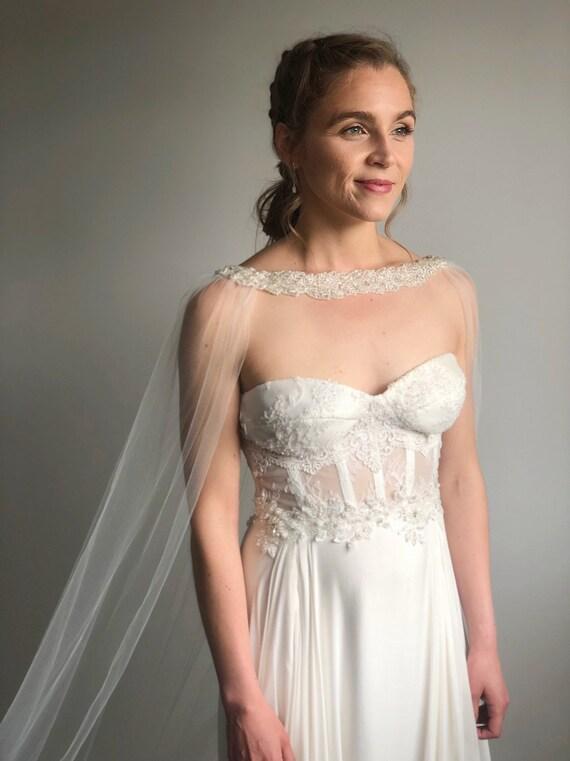 Bridal Cape Wedding Dress Cape Etsy