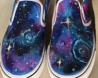 a6283245cf Painted Galaxy Vans