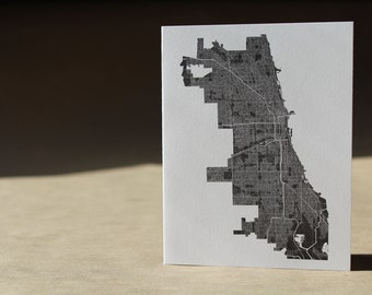 Chicago Map Note Card Set