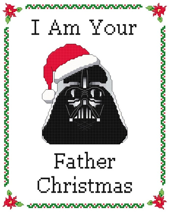 I am your Father Christmas Star Wars cross-stitch pattern