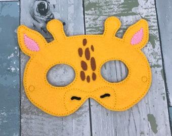 Giraffe Mask, Child's Mask, Pretend Play, Imagination, Dress Up, Halloween Costume, Toddler, Play Time