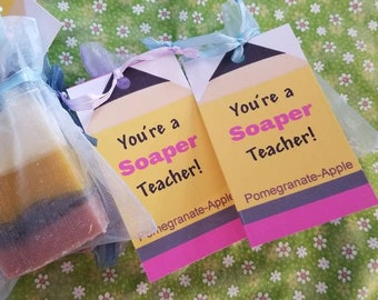 Pencil Teacher Christmas Soap Favors