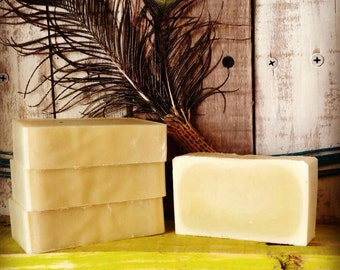 Plain unscented lye soap