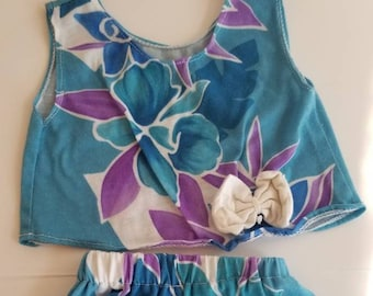 Vintage Hawaiian two piece set.