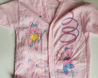 Vintage Kawaii toddler jumpsuit. Approx size 2. Snugabye Made in Canada