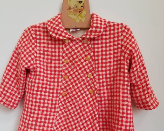 Featured listing image: Vintage checkered toddler coat. Approx size 18-24 months