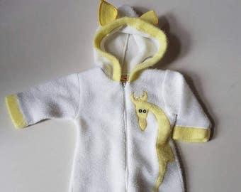 1992 baby onesie. Acyrlic  onesie. Outdoor baby wear . Made in Canada. Outerwear
