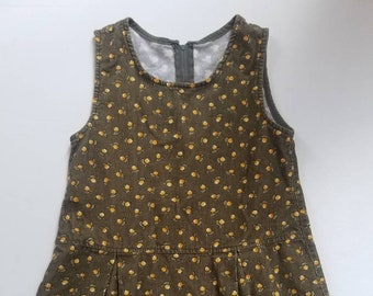 Vintage lemon accented toddler dress. Approx size 3/4