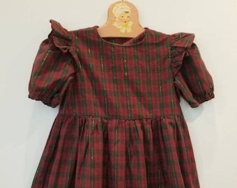 Vintage plaid girls dress. Approx size 4/5