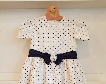 Vintage Jo Joe Fashions polka dot dress. Approx size 8