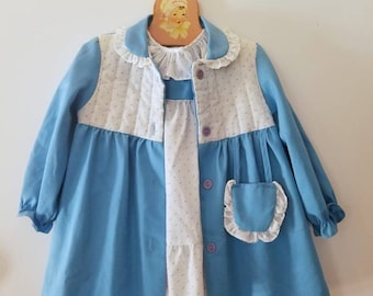 Two piece children's dress and over coat. Approx size 24 months