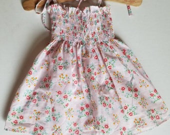Vintage floral shirred top or dress.