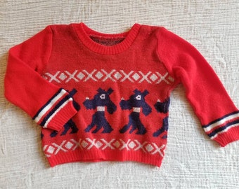 Vintage baby sweater. Approx size 6-12 months