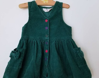 Vintage corduroy childrens dress. Approx size 2
