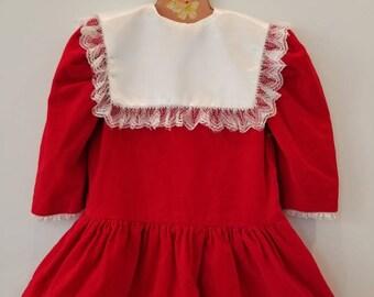 Vintage velvet baby dress Approx size 2/3