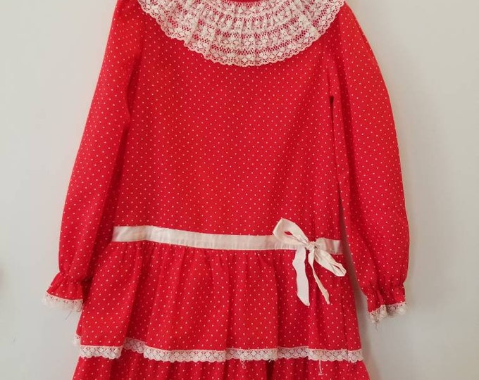 Featured listing image: Vintage polka dot children dress. Approx size 6x/7