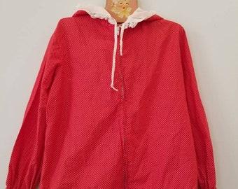 Vintage polka dot jacket. Approx size 5