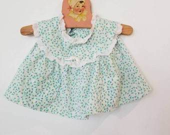 Vintage floral baby top. Approx size 3-6 months