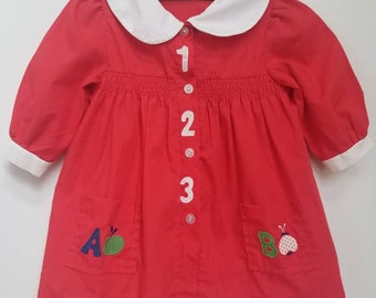 Vintage 123 toddler dress. Approx size 2