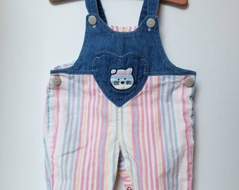 Vintage baby overalls approx size 6 month