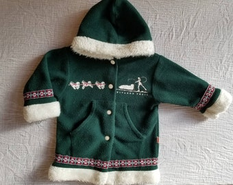 Vintage fleece coat. Approx size 18-24months