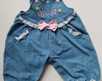 Vintage 1990s baby overalls. Approx size 6-9 months