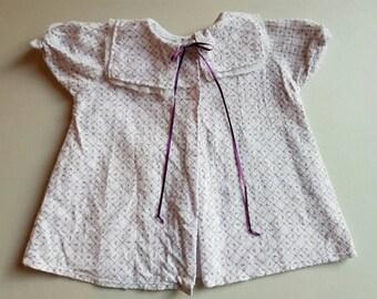 1950s Flannel baby robe/nightie /over