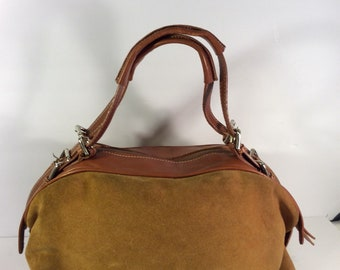 0731e2d3f2e7 Vintage Dolce Gabbana suede leather bag