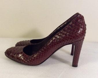 860fe4f4f5c9 Vintage Sergio Rossi python skin Pumps size 39