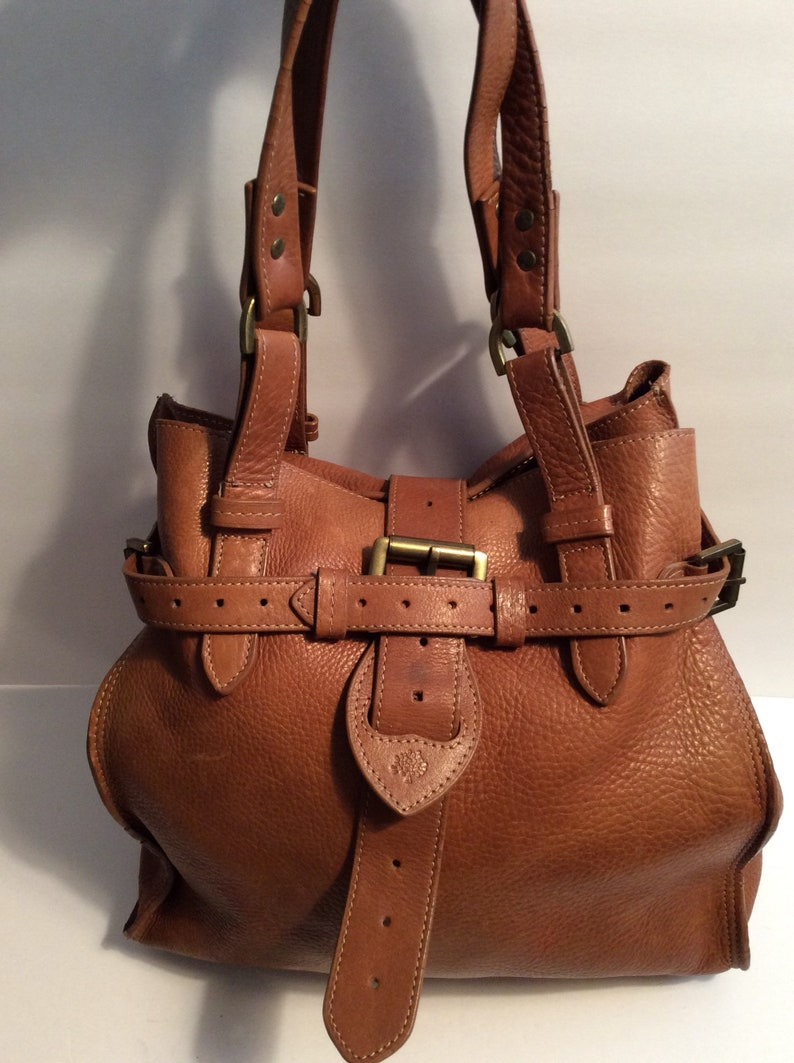 882a1ce1db Vintage Mulberry brown leather bag
