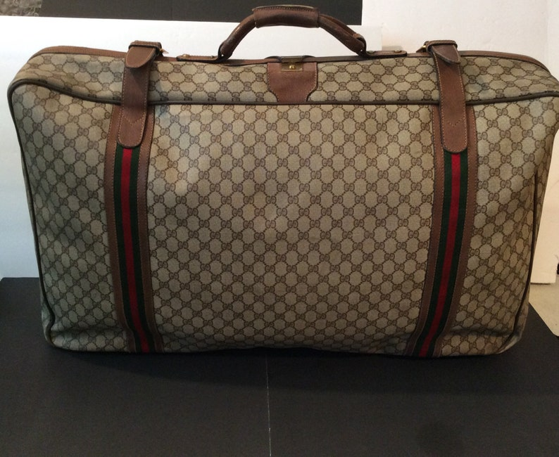 56a11cdc968 Vintage monogram Gucci luggage bag