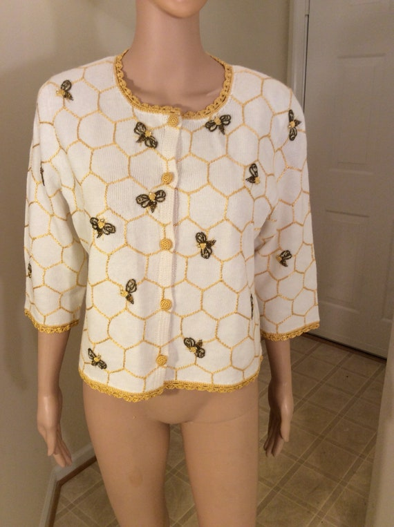 Vintage Michael Simon butterfly sweater top