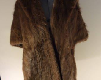 Vintage  mink Peltz fur coats poncho